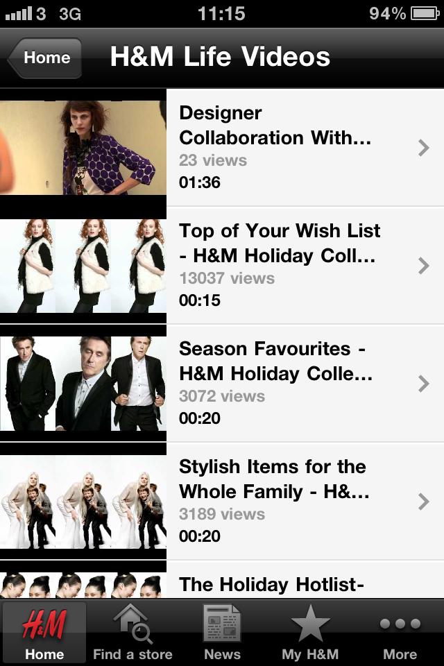 H&M Screenshot 2